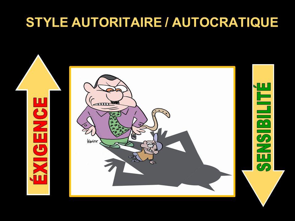 STYLE AUTORITAIRE / AUTOCRATIQUE