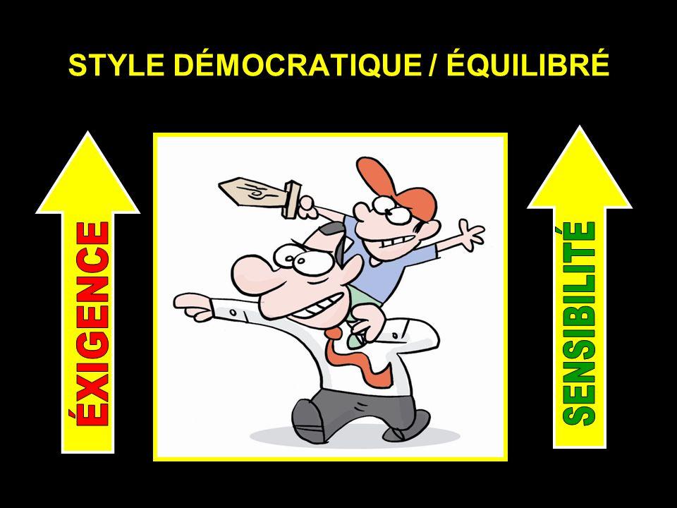 STYLE DÉMOCRATIQUE / ÉQUILIBRÉ