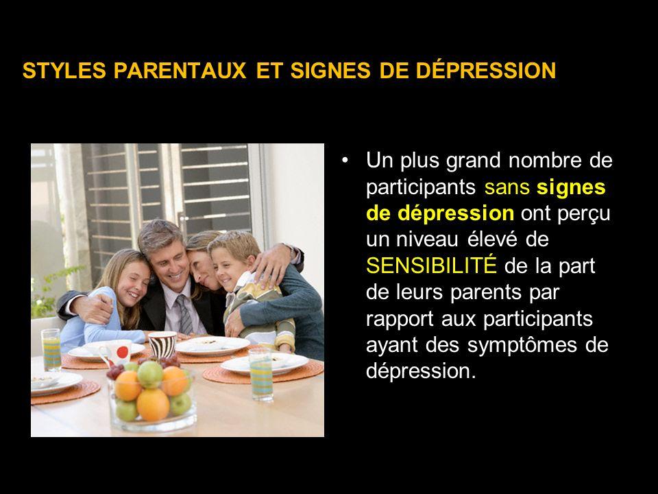 STYLES PARENTAUX ET SIGNES DE DÉPRESSION