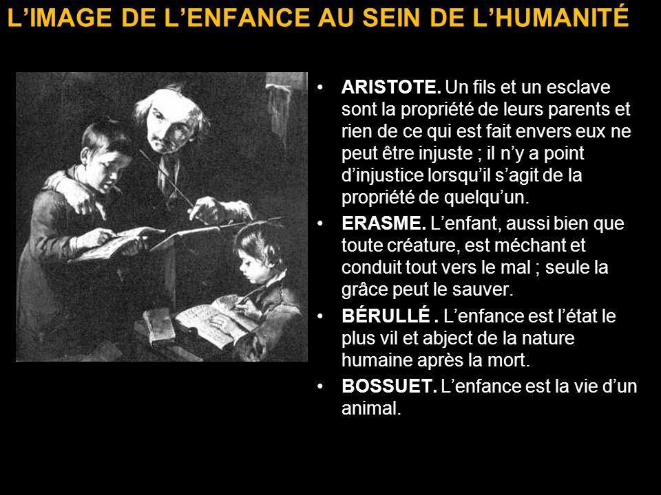 L'IMAGE DE L'ENFANCE AU SEIN DE L'HUMANITÉ