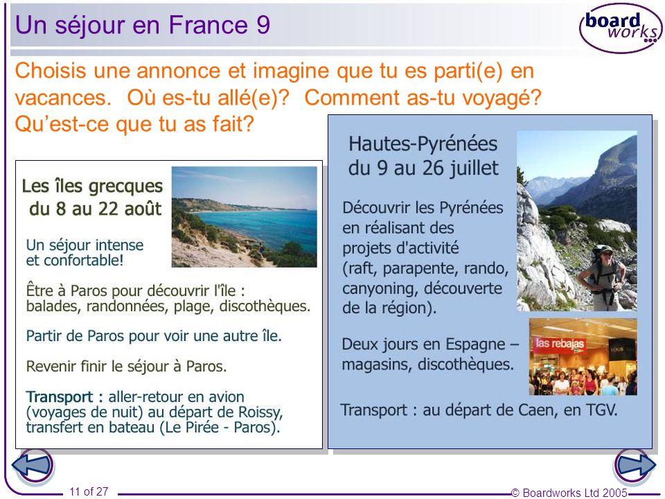 Un séjour en France 9