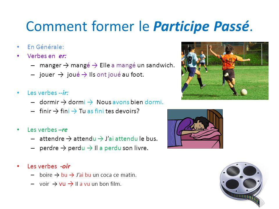 Comment former le Participe Passé.