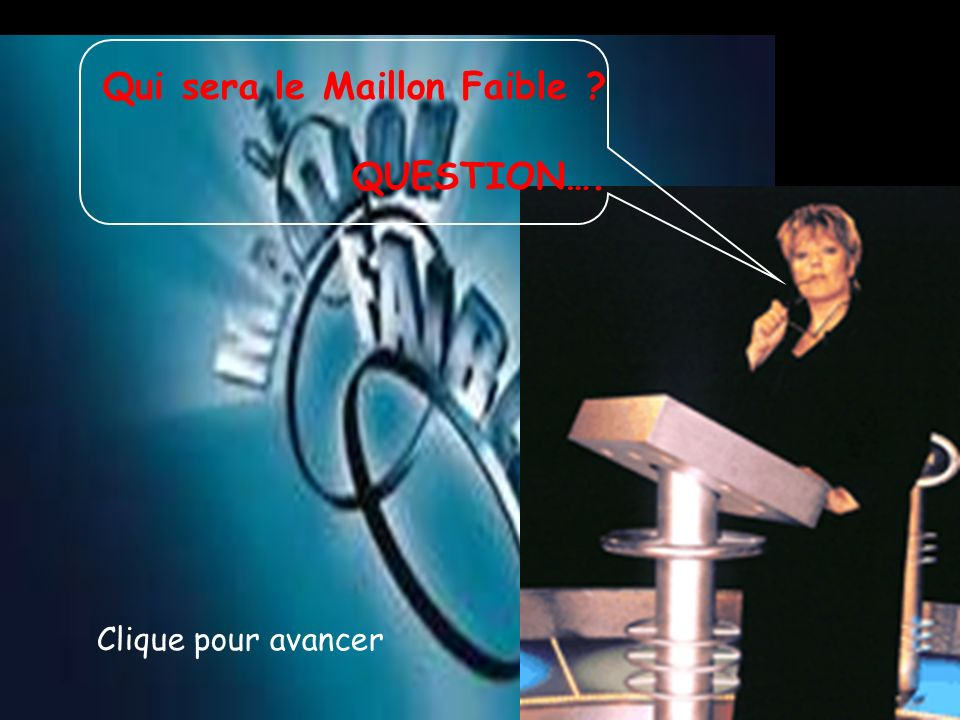 Qui sera le Maillon Faible QUESTION….