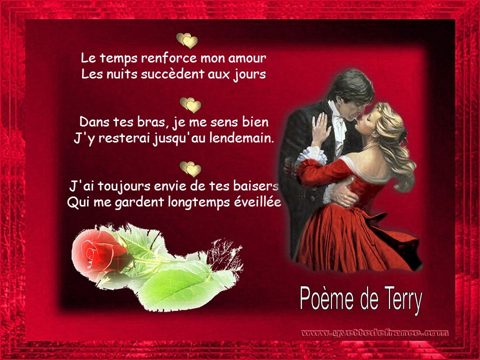 Poème de Terry Le temps renforce mon amour