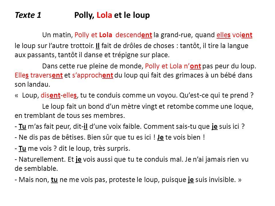 Texte 1 Polly, Lola et le loup