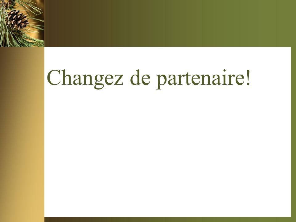 Changez de partenaire!