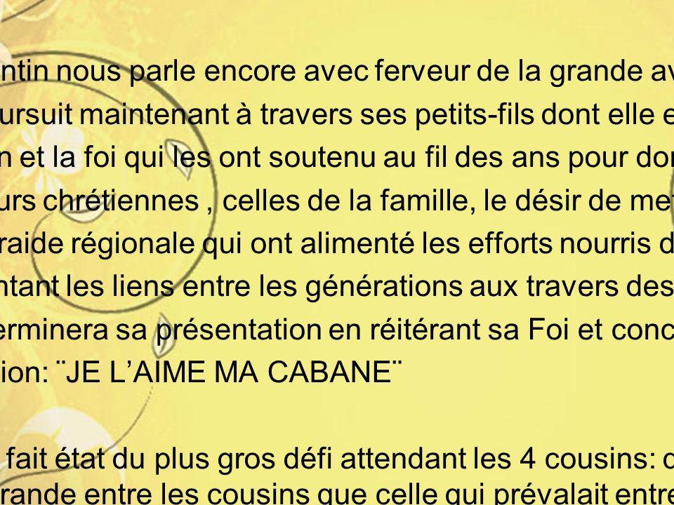 K Michel relate les transferts de propriété, d'Émile à Fernand et Jeannette, à Michel et André