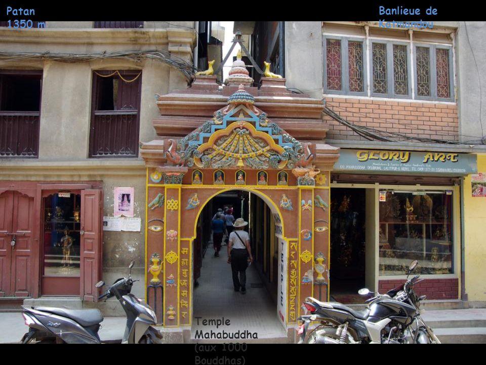 Patan 1350 m Banlieue de Katmandou Temple Mahabuddha (aux 1000 Bouddhas)