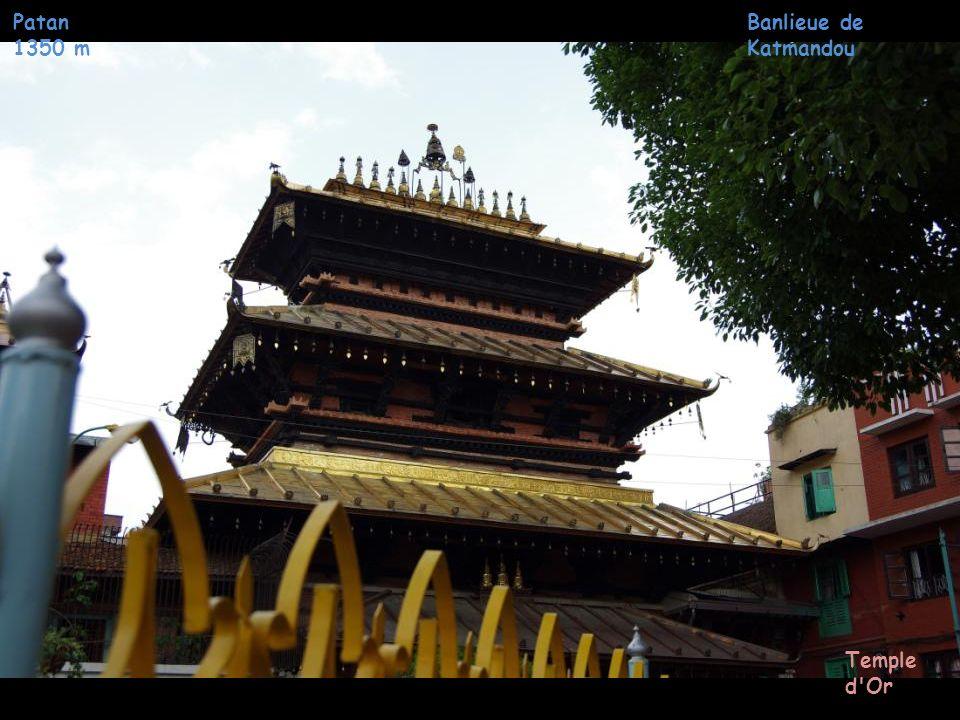 Patan 1350 m Banlieue de Katmandou Temple d Or