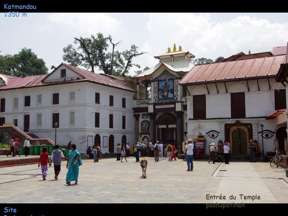 Katmandou 1350 m Entrée du Temple pashupatinah Site Pashupatinath