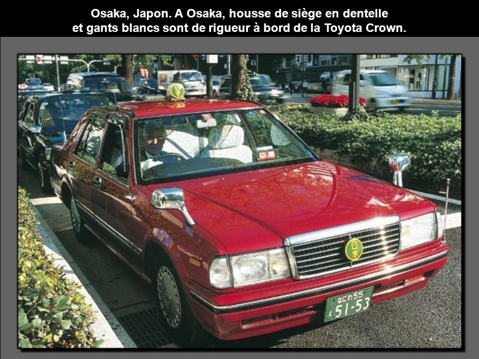 Osaka, Japon. A Osaka, housse de siège en dentelle
