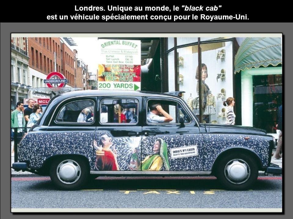 Londres. Unique au monde, le black cab