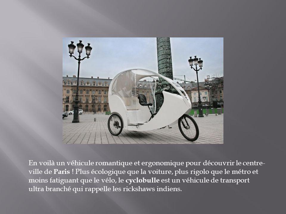 En voilà un véhicule romantique et ergonomique pour découvrir le centre-ville de Paris .