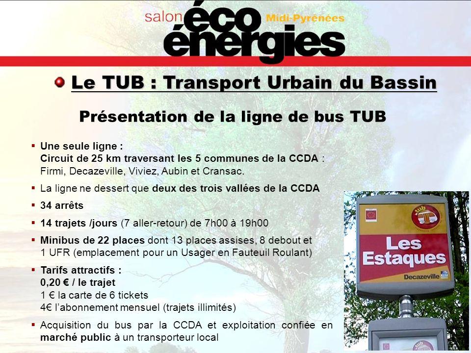 Présentation de la ligne de bus TUB