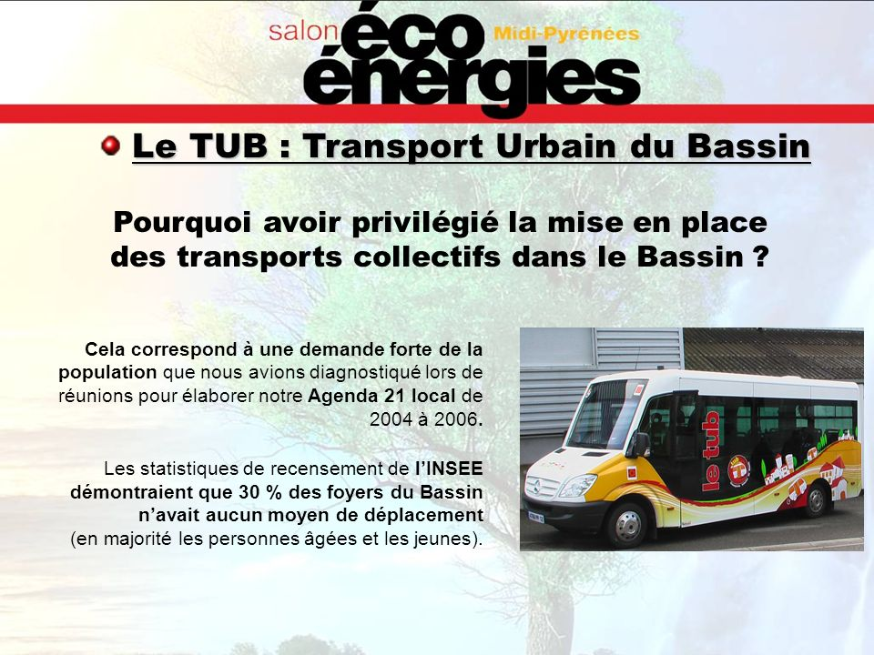 Le TUB : Transport Urbain du Bassin