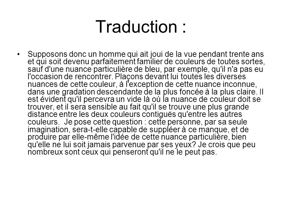 Traduction :