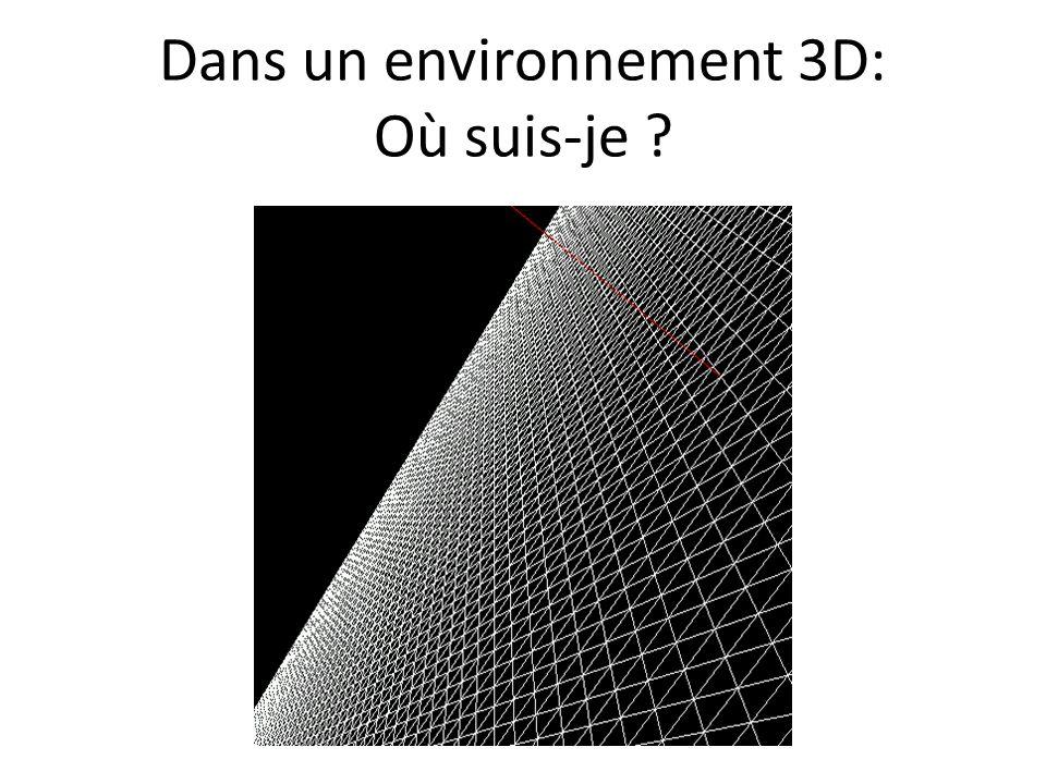 Dans un environnement 3D: Où suis-je