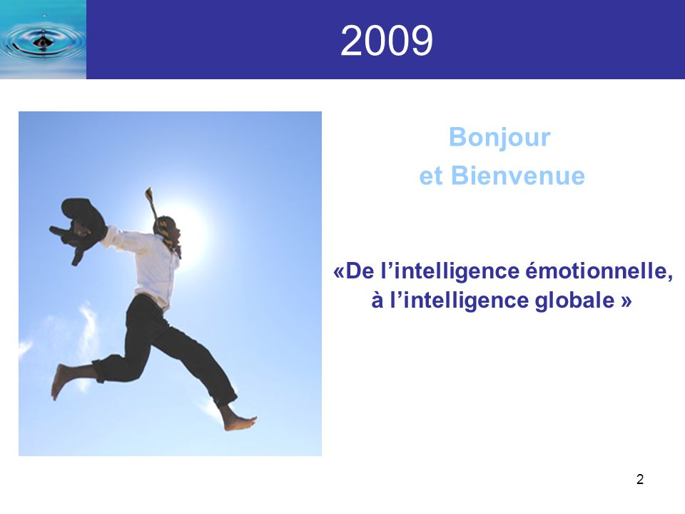 «De l'intelligence émotionnelle,