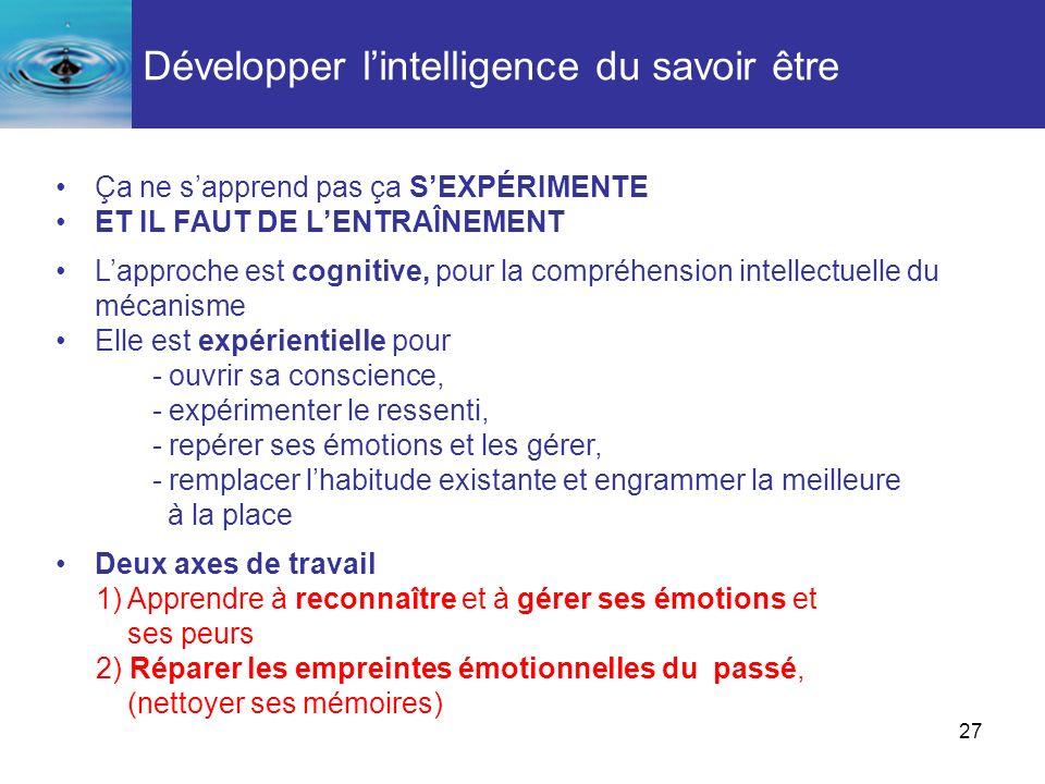 Développer l'intelligence du savoir être
