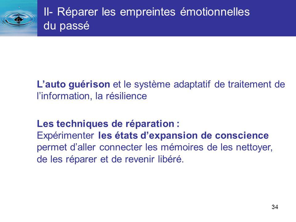 II- Réparer les empreintes émotionnelles du passé