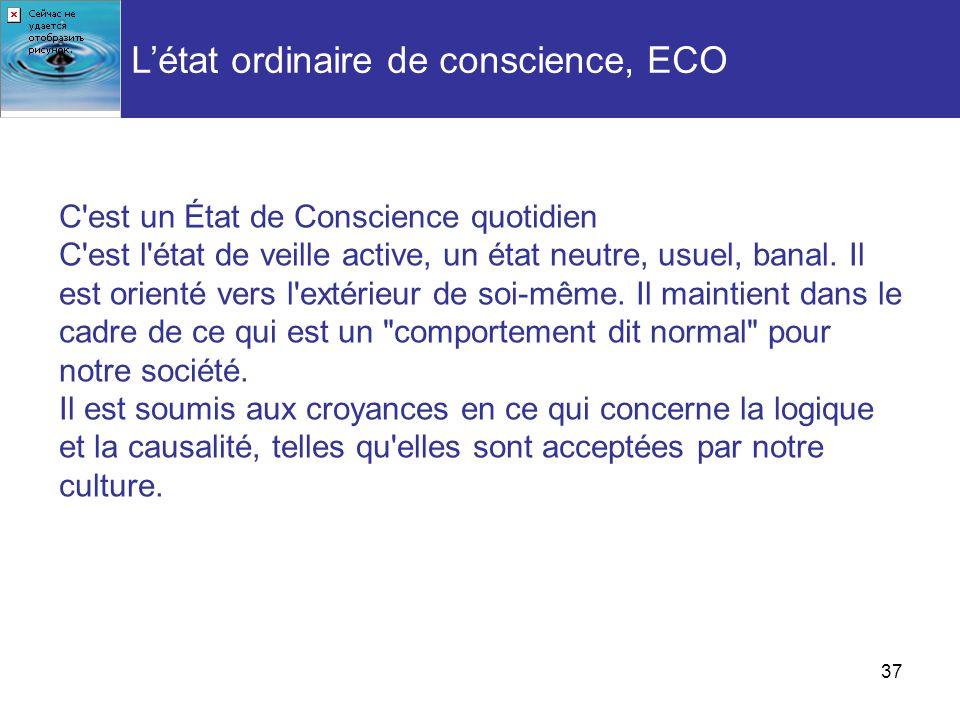 L'état ordinaire de conscience, ECO