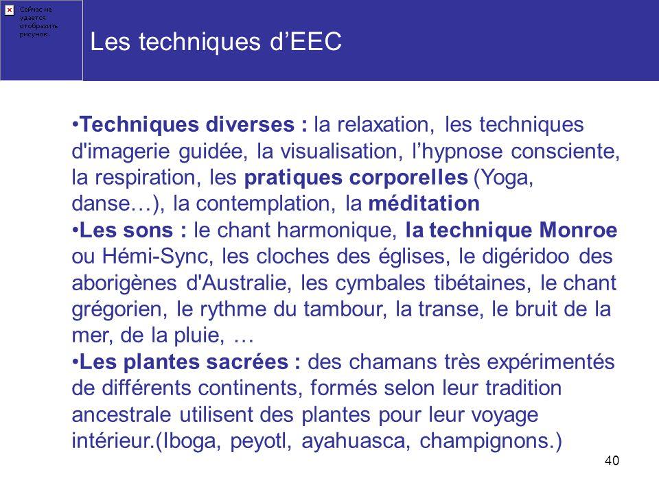 Les techniques d'EEC