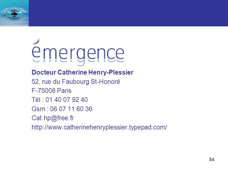 Docteur Catherine Henry-Plessier