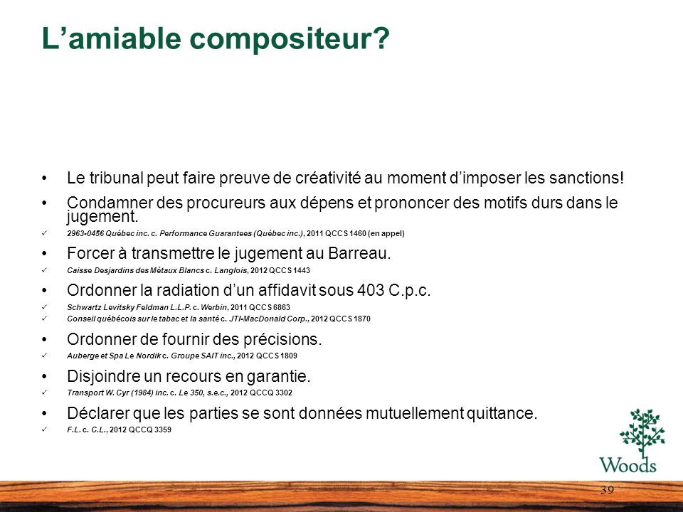 L'amiable compositeur