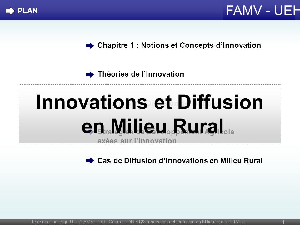 Innovations et Diffusion