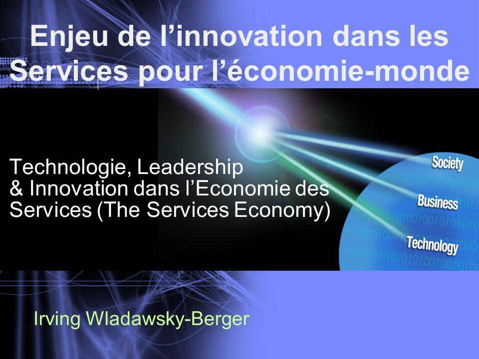 Enjeu de l'innovation dans les Services pour l'économie-monde