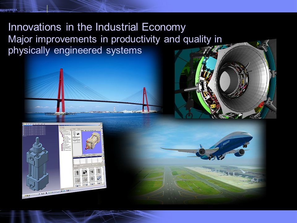 Innovations in the Industrial Economy Major improvements in productivity and quality in physically engineered systems