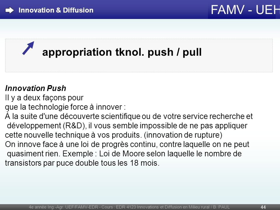 appropriation tknol. push / pull