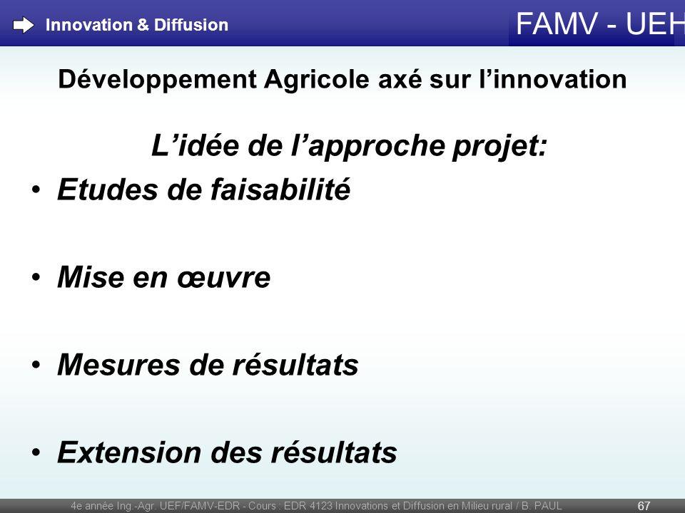 Développement Agricole axé sur l'innovation