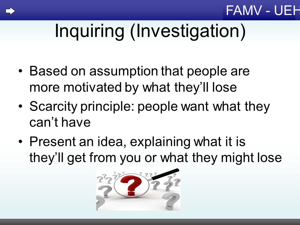 Inquiring (Investigation)