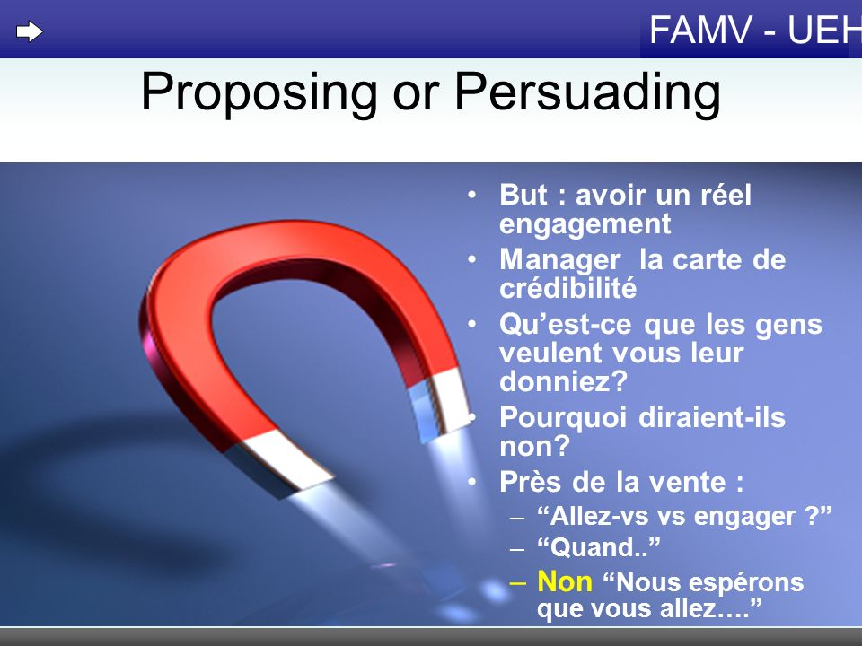 Proposing or Persuading
