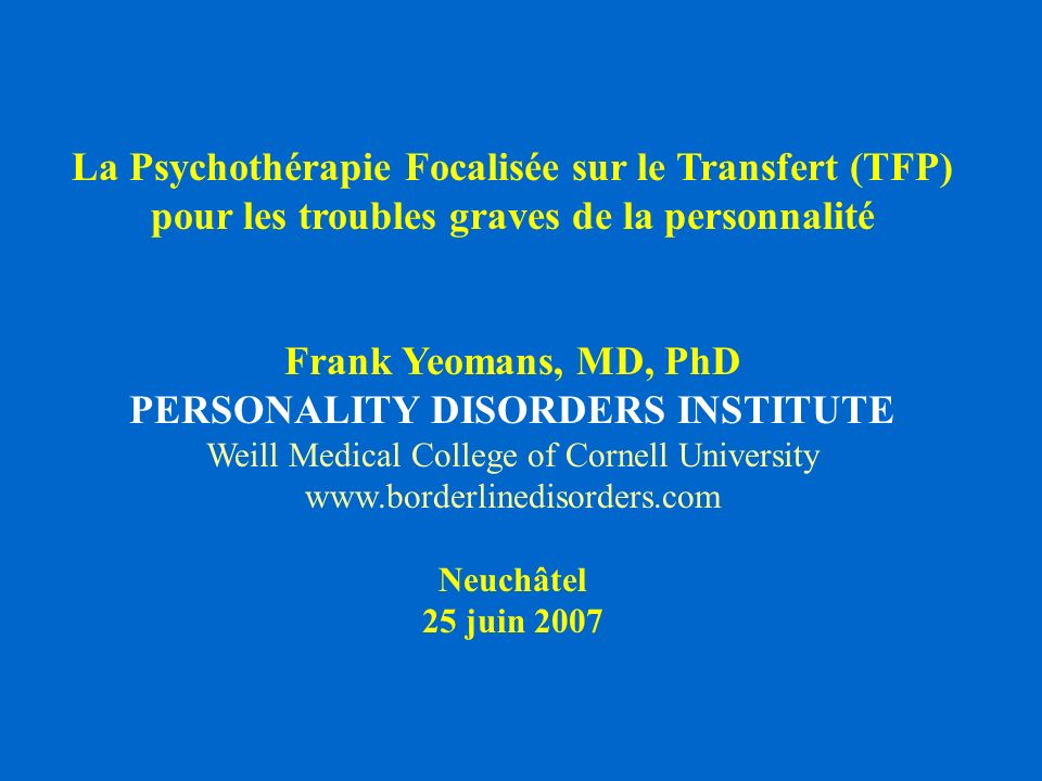 PERSONALITY DISORDERS INSTITUTE