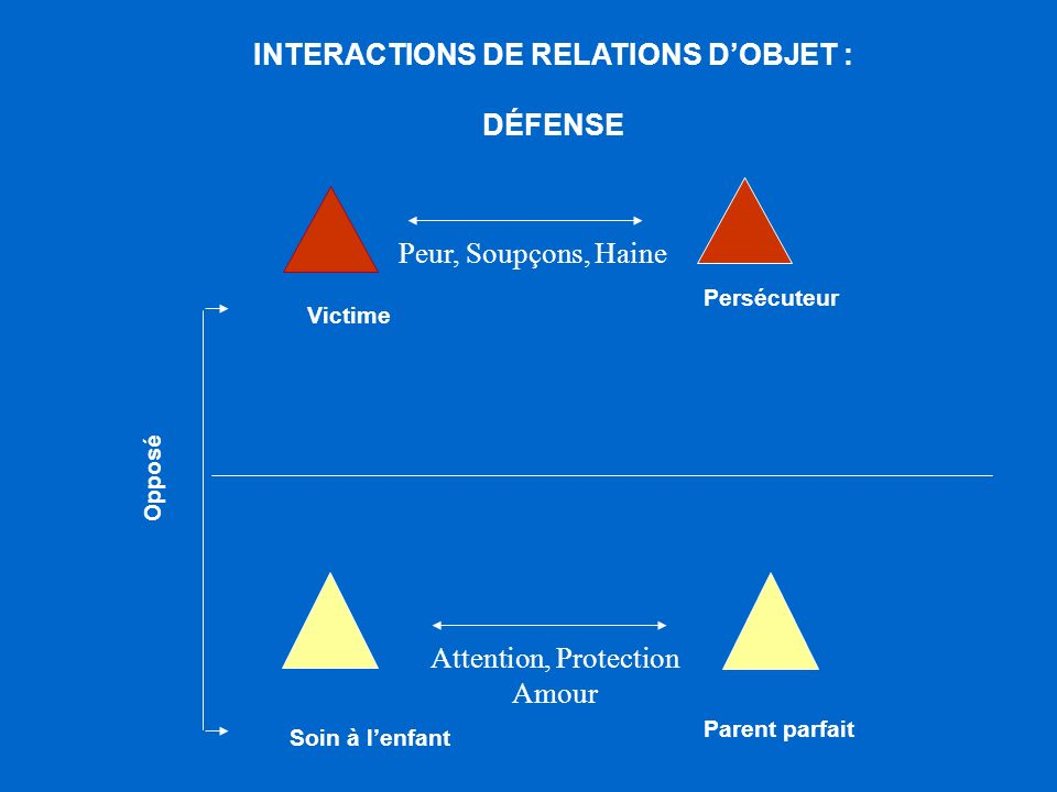 INTERACTIONS DE RELATIONS D'OBJET :