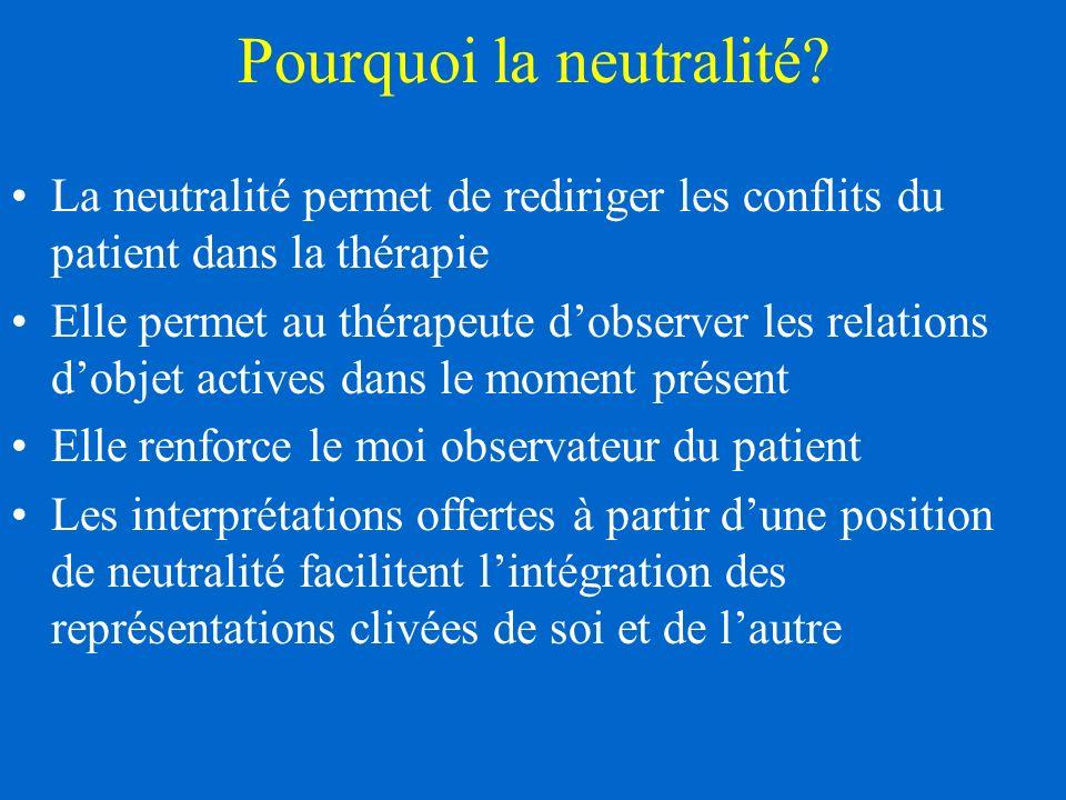 Pourquoi la neutralité