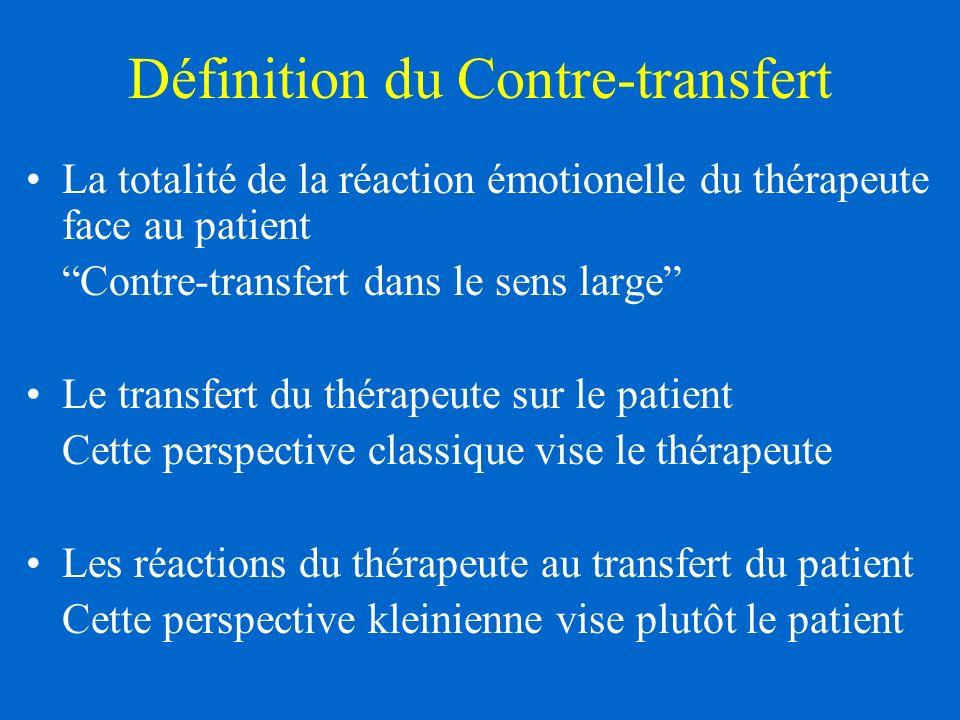 Définition du Contre-transfert