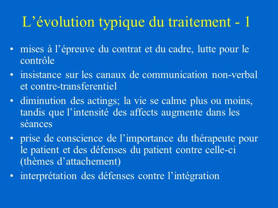 L'évolution typique du traitement - 1