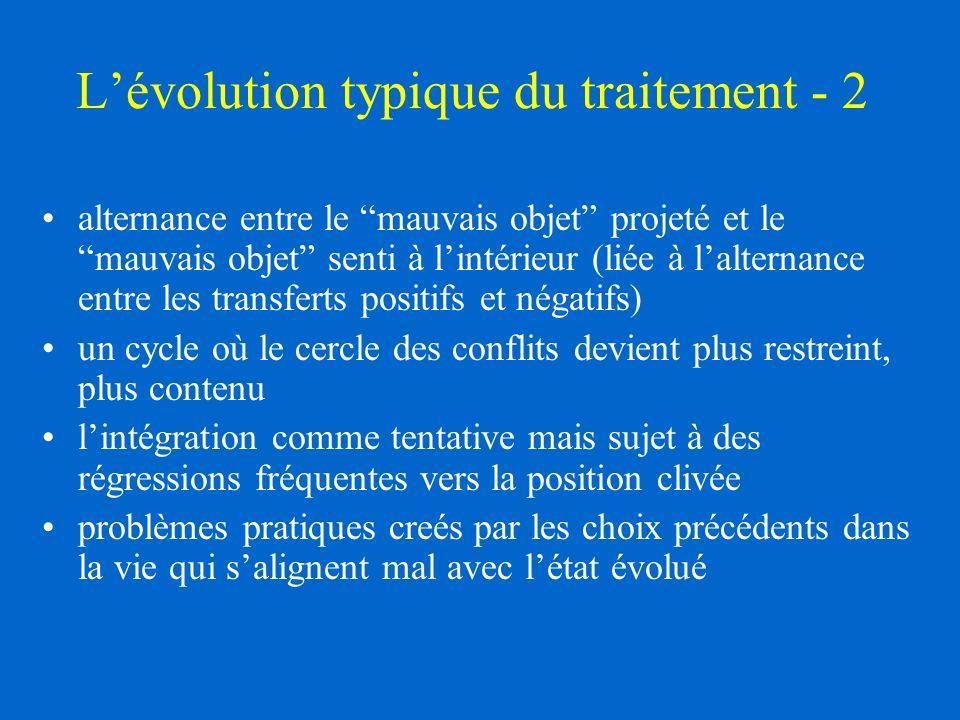 L'évolution typique du traitement - 2