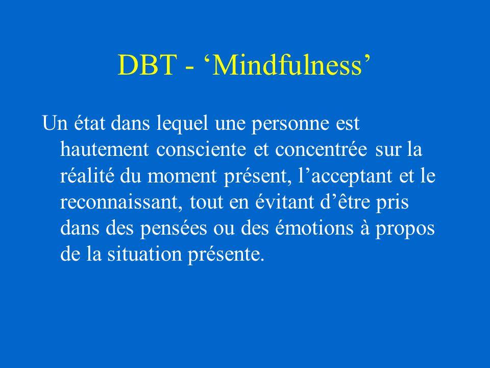 DBT - 'Mindfulness'