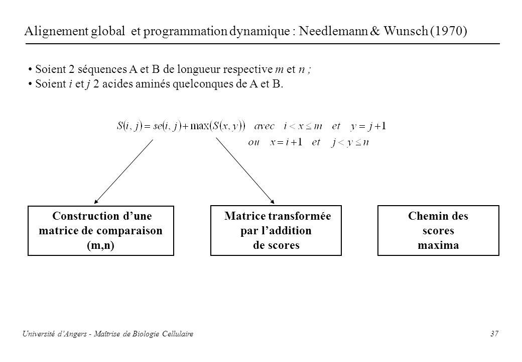 matrice de comparaison