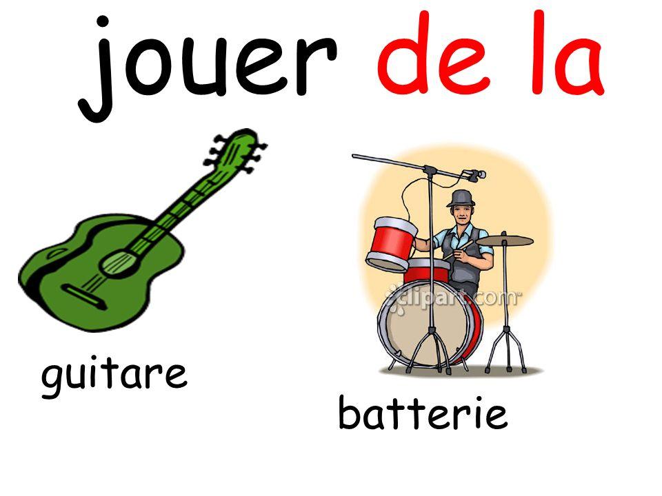 jouer de la guitare batterie