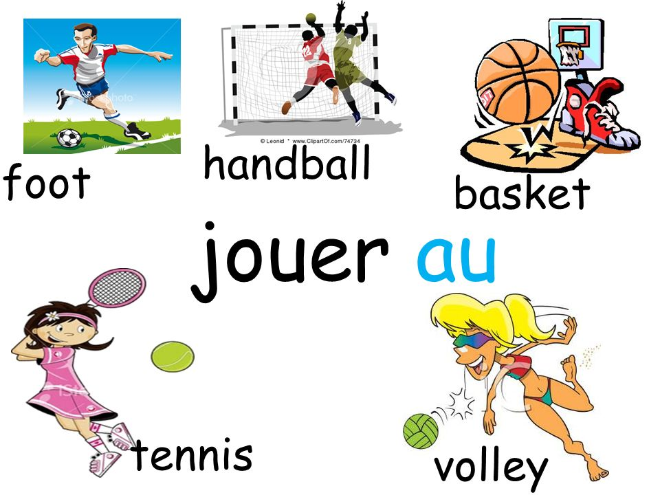 handball foot basket jouer au tennis volley