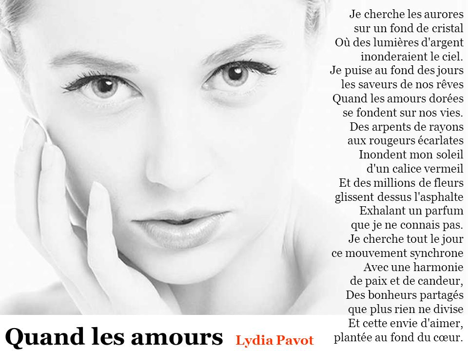 Quand les amours Lydia Pavot