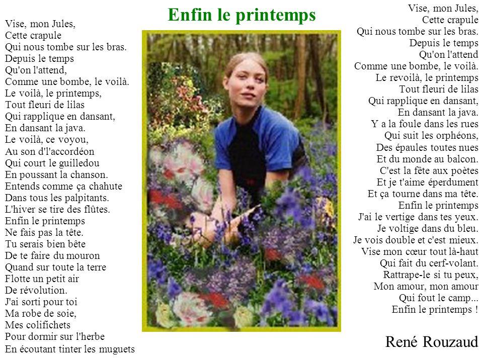 Enfin le printemps René Rouzaud