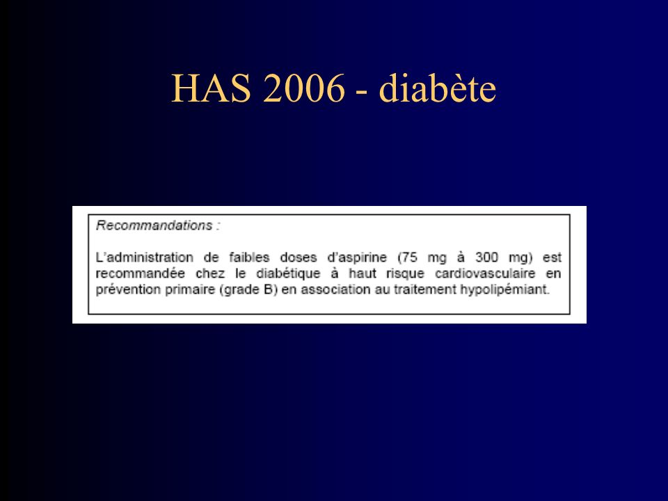 HAS 2006 - diabète