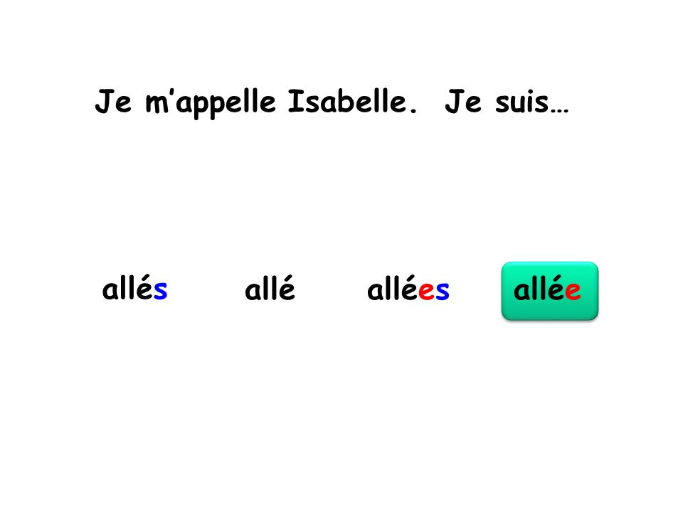 Je m'appelle Isabelle. Je suis…