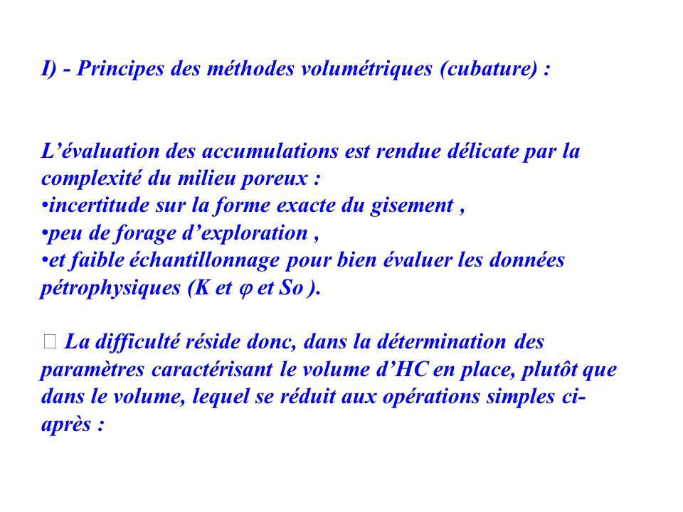 I) - Principes des méthodes volumétriques (cubature) :